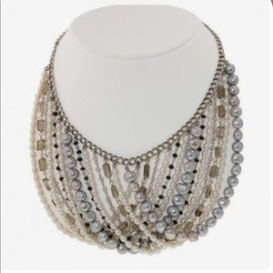 NEW! Honora Pearl Bib Collar Necklace